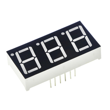 "0.56inch 3bit Common Cathode Digital Tube Red LED Digit Display 7 Segment 0.5inch 0.5 0.56 Inch 0.56"" 0.56in. Three 3 Bit"