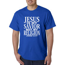 цена JESUS Is My SAVIOR Not My RELIGION T-Shirt - Christian Catholic God Saves Free shipping Tops t-shirt Fashion Classic Unique gift онлайн в 2017 году