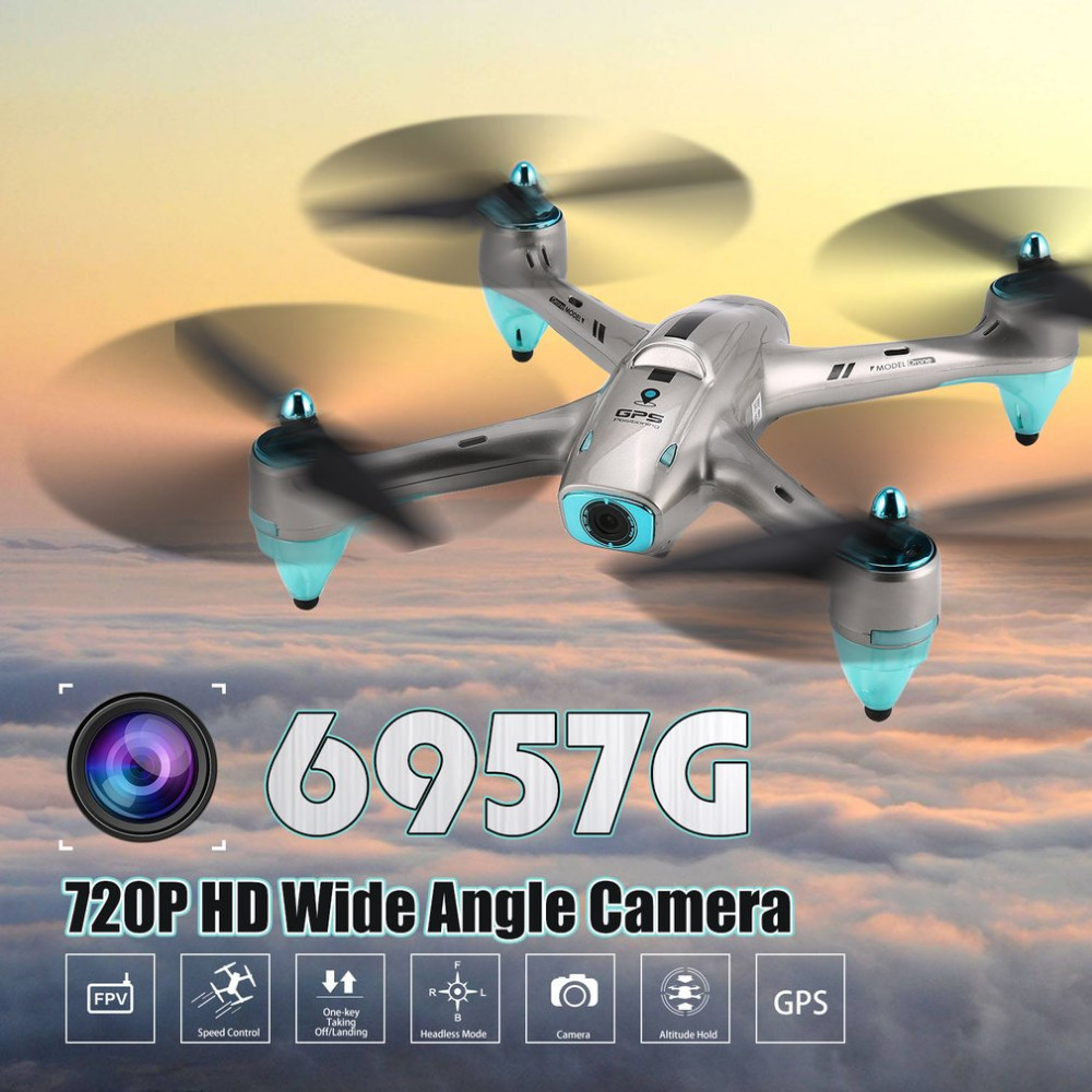 6957G 2.4G GPS Positioning RC Drone With 720P HD Wide Angle Camera Quadcopter Altitude Hold Headless Mode One Key Return 3D Flip6957G 2.4G GPS Positioning RC Drone With 720P HD Wide Angle Camera Quadcopter Altitude Hold Headless Mode One Key Return 3D Flip