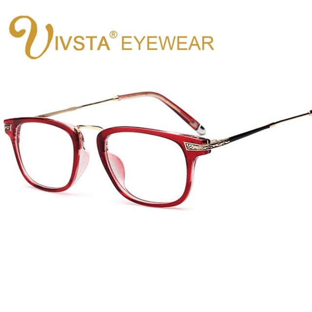 IVSTA Alloy Women Glasses Optical Lenses Spectacles Frame Brand Designer Decoration Prescription Myopia Degree Retro TR90