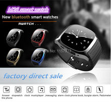 Nuevo deporte Bluetooth Inteligente Reloj de pulsera de lujo M26 smartwatch con Dial SMS Recuerdan Podómetro para Android Samsung xiaomi teléfono