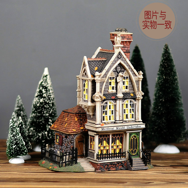 Christmas Gift Creative Color Art Center Ceramic Handcrafts Porcelain Night Light House Ornaments Free Shipping