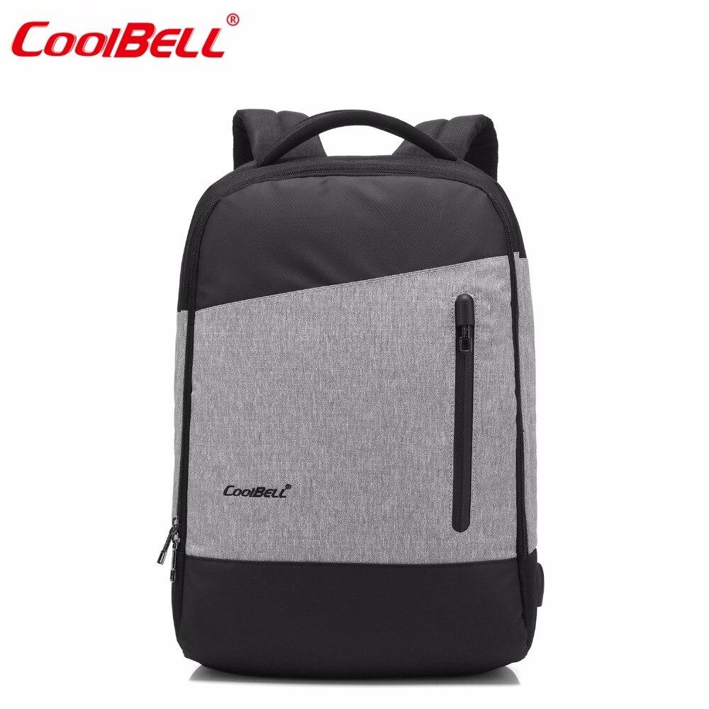 15.6 Inch Laptop Backpack With USB Charging Port Multi-compartment Travel Bag Rucksack Waterproof Knapsack For Men / Women
