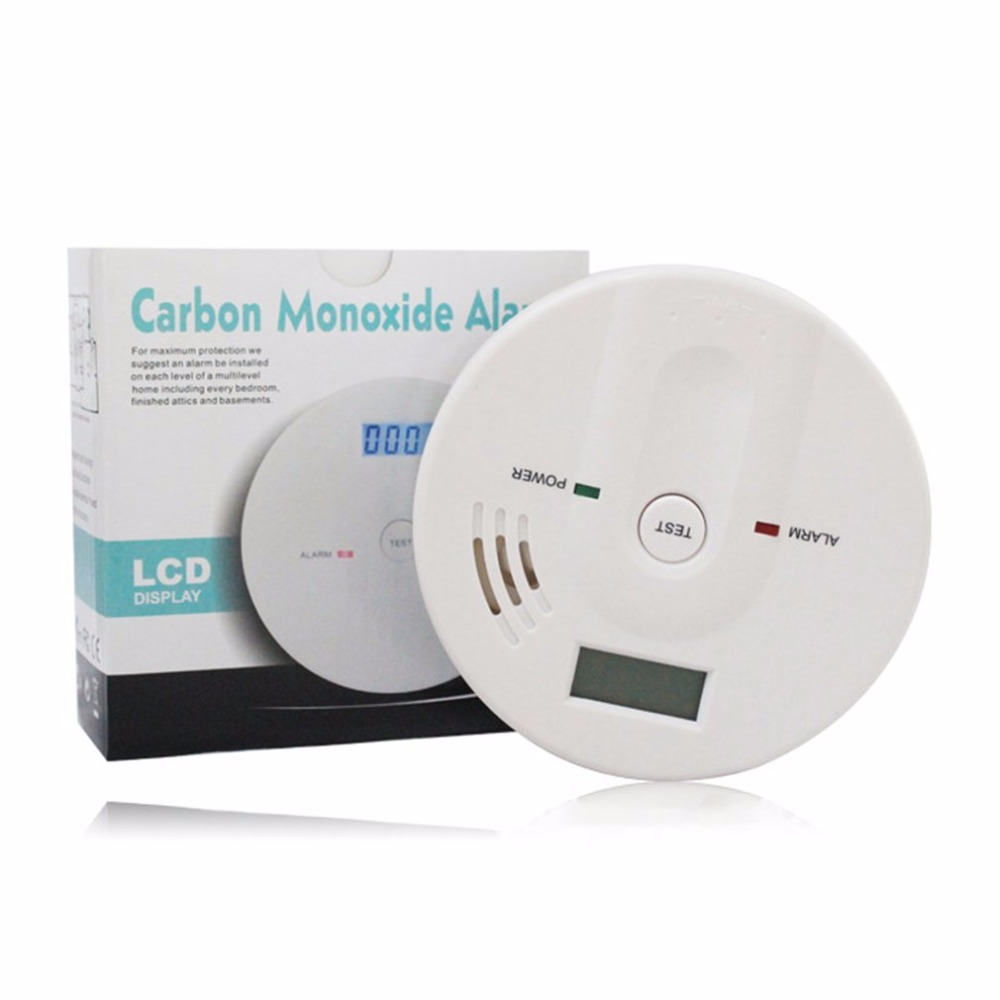 CO Gas Sensor 85dB Warning High Sensitive LCD Display 808 Carbon Monoxide Poisoning Alarm Detector For Home Security handheld carbon monoxide meter high precision co gas analyzer tester monitor detector lcd display sound light alarm 0 1000ppm