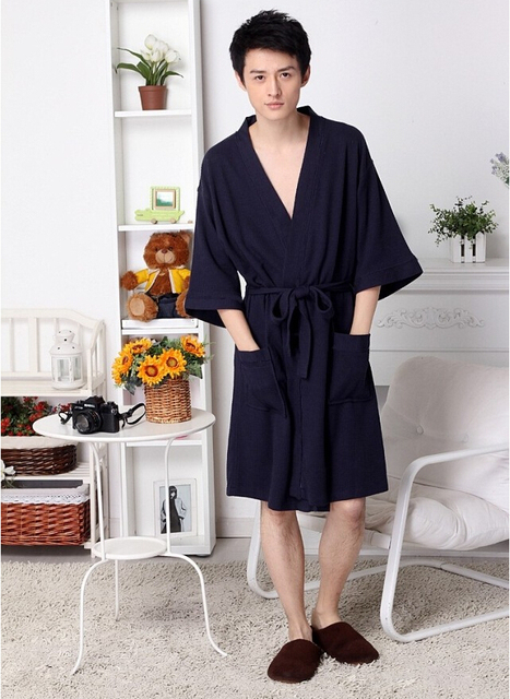 European Size fivestar hotel sauna use supersoft  waffle pattern velvet dressing gowns bath robe wrap house coat