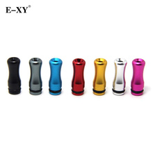 E-XY 100pcs/lot Metal Drip Tip Aluminum 510 Drip Tips Aluminum For Vivi Nova DCT V2 Atomizer Tank  E Cigarette mouthpieces