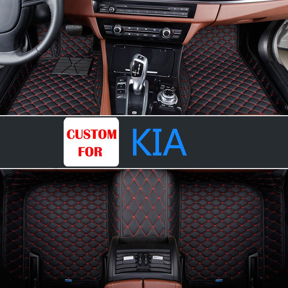 New luxury parts car foot pad leather pvc mats easy clear well cover for kia borrego
