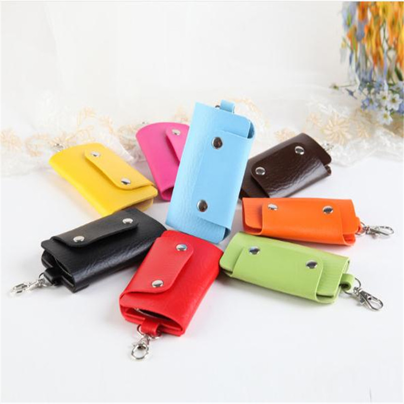 3PCS Key Holder Keychain PU Leather Men Car Key Holder House keeper Organizer Women Candy Covers Case Mini Bag Promotional Gifts3PCS Key Holder Keychain PU Leather Men Car Key Holder House keeper Organizer Women Candy Covers Case Mini Bag Promotional Gifts