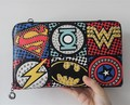 2017 Unisex Clutch Fashion Retro PU Leather Super cool  Avengers Rivet Gothic Punk Handy Wrist Clutch Bag