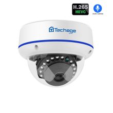Techage 1080p h.265 POE IP Camera 2mp Dome Onvif Network Audio Sound Record P2P Home Security CCTV Video IR CUT Surveillance