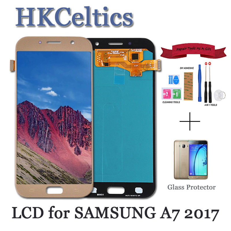 Display Replacement For <font><b>Samsung</b></font> Galaxy A7 2017 <font><b>A720</b></font> A720F A720M LCDs with Touch Screen Digitizer Assembly a7 2017 <font><b>LCD</b></font> screen image