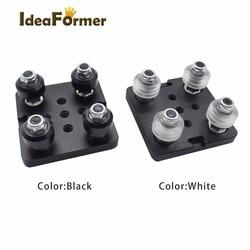 1 conjunto de impressora 3d parte openbuilds v pórtico plat conjunto especial placa de slide para 2040 perfis de alumínio v-slot mini cinco roleta