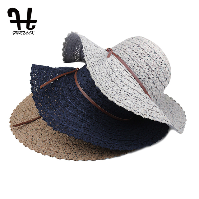 Foldable Cotton Beach Sun Hat For Women