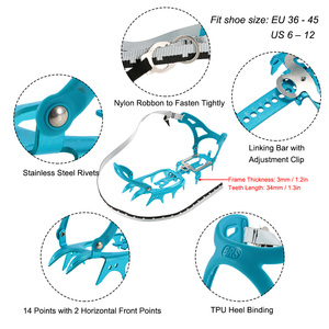 Image 5 - BRS BRS S3 14 ฟันอลูมิเนียมรวม Crampons ICE Gripper Ultralight กลางแจ้งปีนเขาน้ำแข็งชุด ULTRA LIGHT