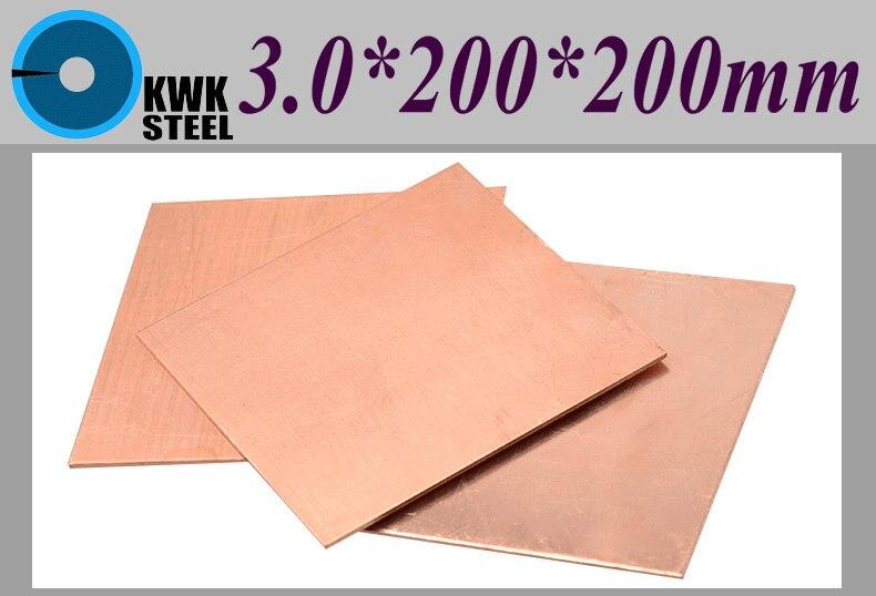 Медный лист 3*200*200 мм медная пластина блокнот термальный коврик чистая медь таблетки DIY материал