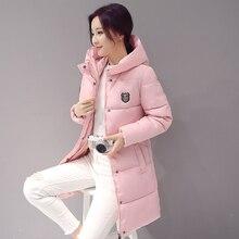 Корейских женщин пальто девушки длинный тонкий женщины куртка размер толстые зимнее пальто