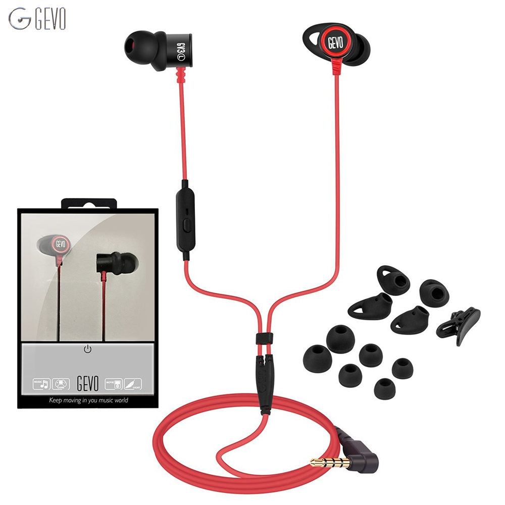 GV3 In-ear Earbuds Wired Noise Cancelling Sport Headsets HIFI Metal Earphones Stereo Bass Headphone With Microphone For Xiaomi