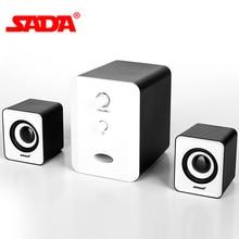 SADA D-201 USB Проводные комбинированные колонки компьютерные колонки бас стерео музыкальный плеер сабвуфер звуковая коробка для настольного ноутбука ПК