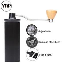 YRP Mini Aluminum Alloy Manual Coffee Grinder  Stainless Steel Burr Grinding Conical Bean Miller Coffee Mill temperi Bearing цены онлайн