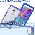 Note 4 3 2 Waterproof Swimming Case for Samsung Galaxy N910 N9000 N7100 Clear Crystal Cover Diving Surfing Summer Accessories