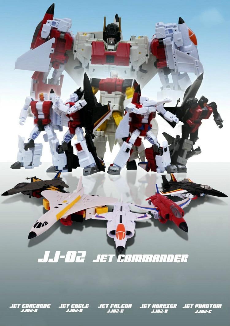Robot Toys Transformation JJ 02 Jet Commander G1 Superion Combination Set of 5 JJ02 Action Figure