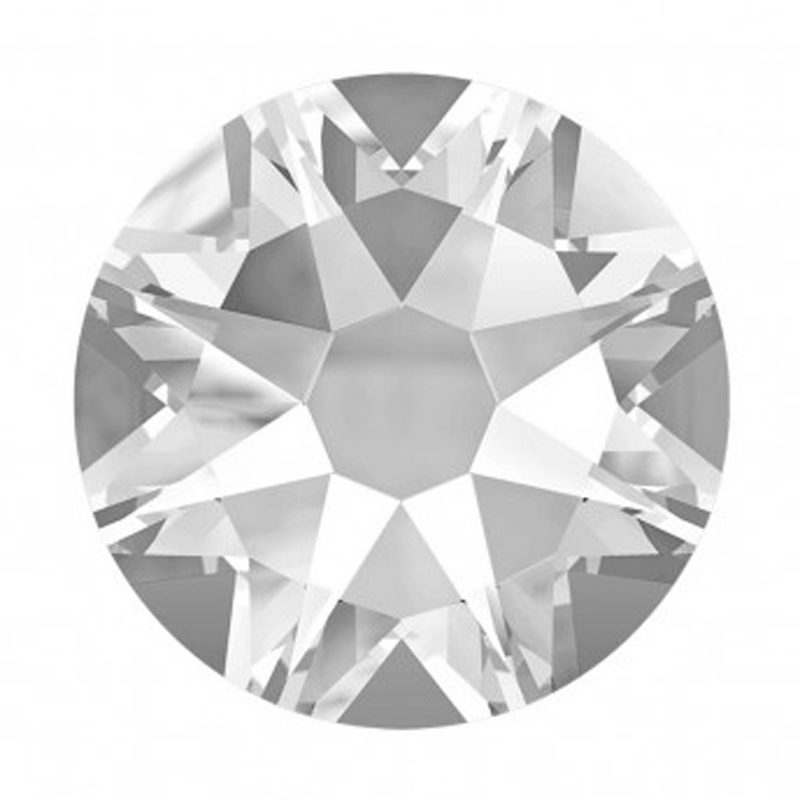 YANRUO #2088HF Crystal Clear 8 Big 8 Small Strass Hotfix Crystals Flat Back SS16 SS20 SS30 Hot Fix Glass Rhinestones