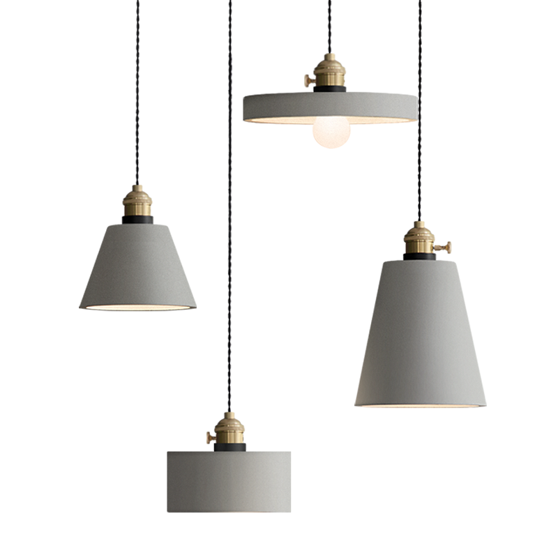 Handmade Concrete Pendant Lamp Cement Suspension Light