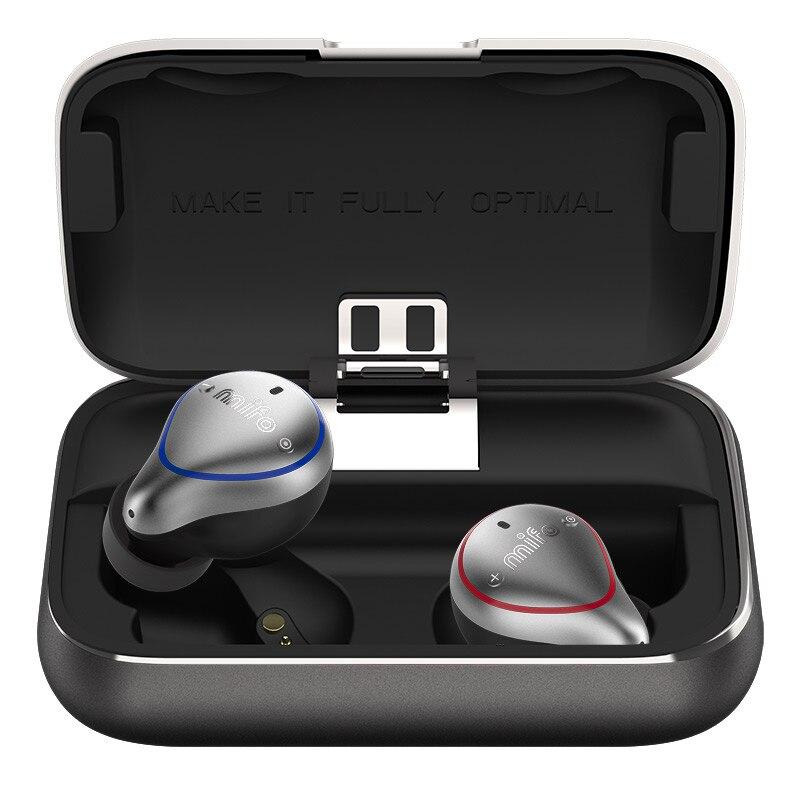 Mifo Bluetooth 5.0 véritable sans fil écouteurs étanche Bluetooth écouteurs sport stéréo son écouteurs avec boîte de charge pour téléphone