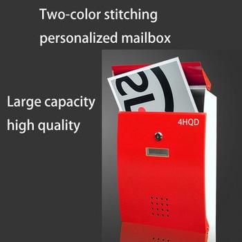 Creative European Mailbox Mail Villa Outdoor Rainproof Garden Tin Report Box Home Outdoor Waterproof Wall Postbox