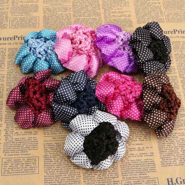 Online Shop 1pc Fashion Girl Women Dot Shiny Bun Cover Snood Ballet