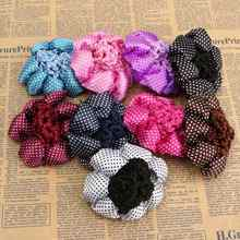 1PC New Fashion Girl Women Dot Shiny Bun Cover Snood Ballet Dance Skating Hair Net Crochet Hairband Hair Accessories(China)