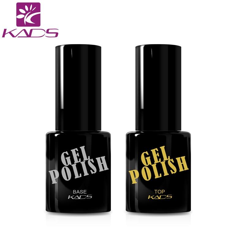 KADS 2PCS Gel Polish Top Coat Top Coat + Base Coat Foundation for UV Gel Polish 9.5ml Long Lasting Nail Gel