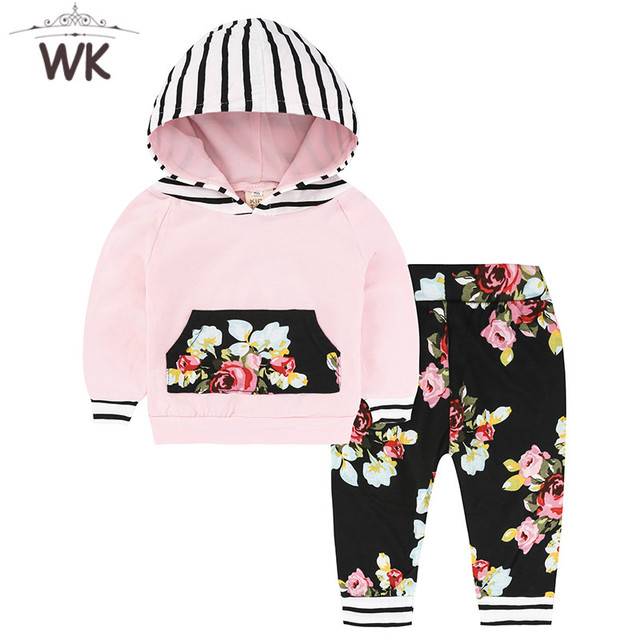 0be8002cf0f8 2018 Autumn New Infant Baby Girls Clothes Set Long Sleeve Hooded ...