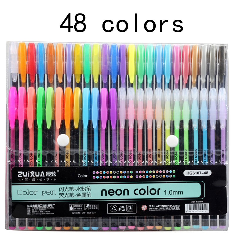 Jonvon Satone 48 Colors Pen Function Pens Painting Supplies Stationery Drawing Markers Pen Escolar Writing Gel School Supplies