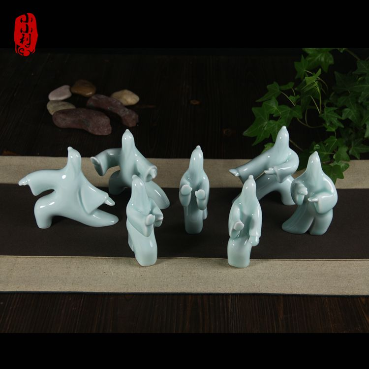 Tai Chi Ceramic Mean Person Household Pet Kung Fu Tea Table Furnishing Articles Bookcase Sitting Room Adornment Handicraft
