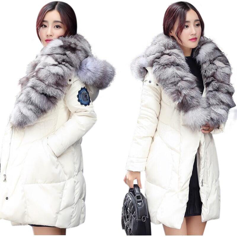 2019 New European style Fashion Real Fox Fur Coat Women Warm Winter Fur Coat Long Luxury