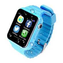 V7K GPS Bluetooth Smart Watch for Kids Boy Girl Safe Anti-Lost Monitor Christmas Gift (Blue)(China)