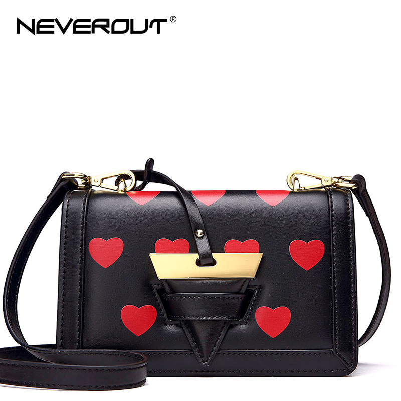 NeverOut Brand Name Shoulder Bag Sac Solid Heart-shaped Flap Handbag Split Leather Messenger Bags for Women Small Crossbody Bag neverout new crossbody handbag women messenger bag cover small flap bags fashion shoulder bags simply style genuine leather bag