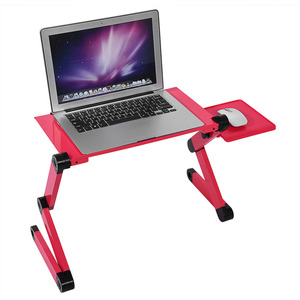 Image 3 - Portable Laptop Desk Notebook Stand Table Tray with Mouse Holder Laptop Stand Desk Holder Pad Notebook Table for Bed