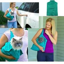 Портативная уличная сумка для кота собаки домашнего животного с двойным плечом Сетчатая Сумка Рюкзак Дорожная Сумка