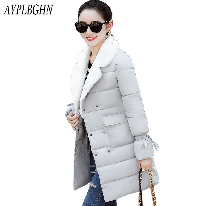 New Fashion Women's Winter Jackets and Coats Female Thick Warm Slim Winter Jackets For Women Long   Parkas   Plus size 6L76