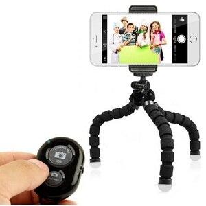 Image 2 - Flexibele Mini Statief Telefoon Houder Statief Met Telefoon Clip Camera Mini Statief Voor Smartphone & Camera Bluetooth Mini Statief