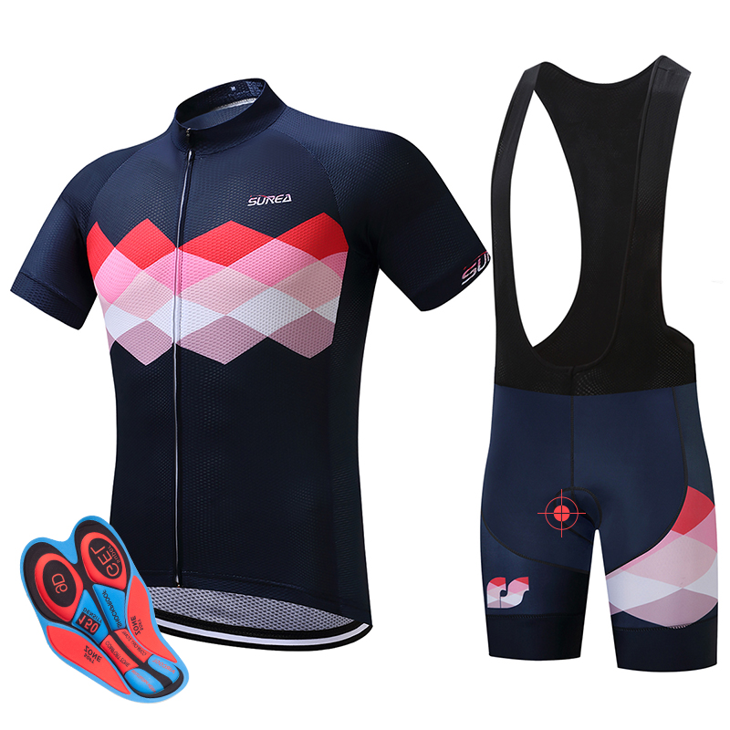 SUREA traje de bicicleta de manga corta de verano Ropa Ciclismo 2017 ropa de bicicleta de montaña / ropa deportiva de bicicleta transpirable para hombres
