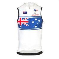 Men Latest Styles Australian Flag Cycling Jersey Wear Bicycle Red Riding Racing Mountain Sleeveless Bike Triathlon