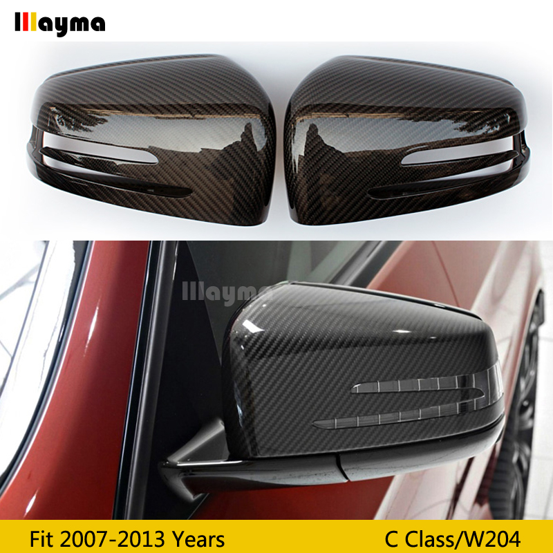 W204 Carbon Fiber replace Mirror cover For Benz C class C180K C200K C250 2007 2013 year