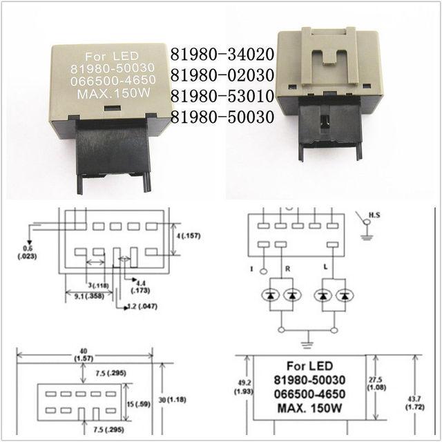 motofans - 8 pin led flashers relay fix hyper flash turn signal light  decoder for lexus toyota cars automobiles 81980-50030 cf18