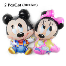 2Pcs/Lot toys for mickey minnie wholesale balloons party decoration helium foil anniversary valentines wedding birthday