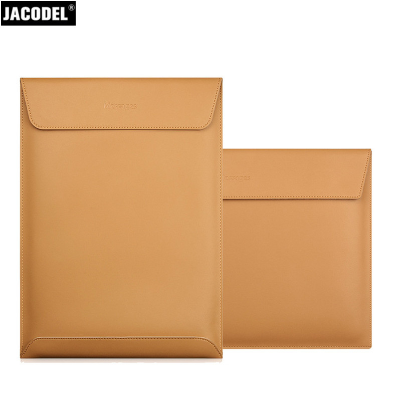 Jacodel Genuine Leather Laptop Sleeve Bag for Macbook Air 11 12 13 Pro 13 15 portable Notebook Sleeve Case Leather Message Bag notebook bag 12 13 3 15 6 inch for macbook air 13 case laptop case sleeve for macbook pro 13 pu leather women 14 inch