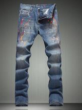 Горячее надувательство! англия классический цвет чернила тонкий брюки хлопок мода правда джинсы мужчины известный бренд мужские брюки узкие джинсы мужчин брюки