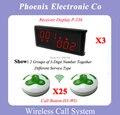 Лучшие Моды Колокол Беспроводная Система Вызова Пейджера Для Электронных Ресторан С 25 Кнопки Таблицы H3-РГ 3 Wireless Display P-236